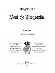 Allgemeine Deutsche Biographie - Leipzig, 1875